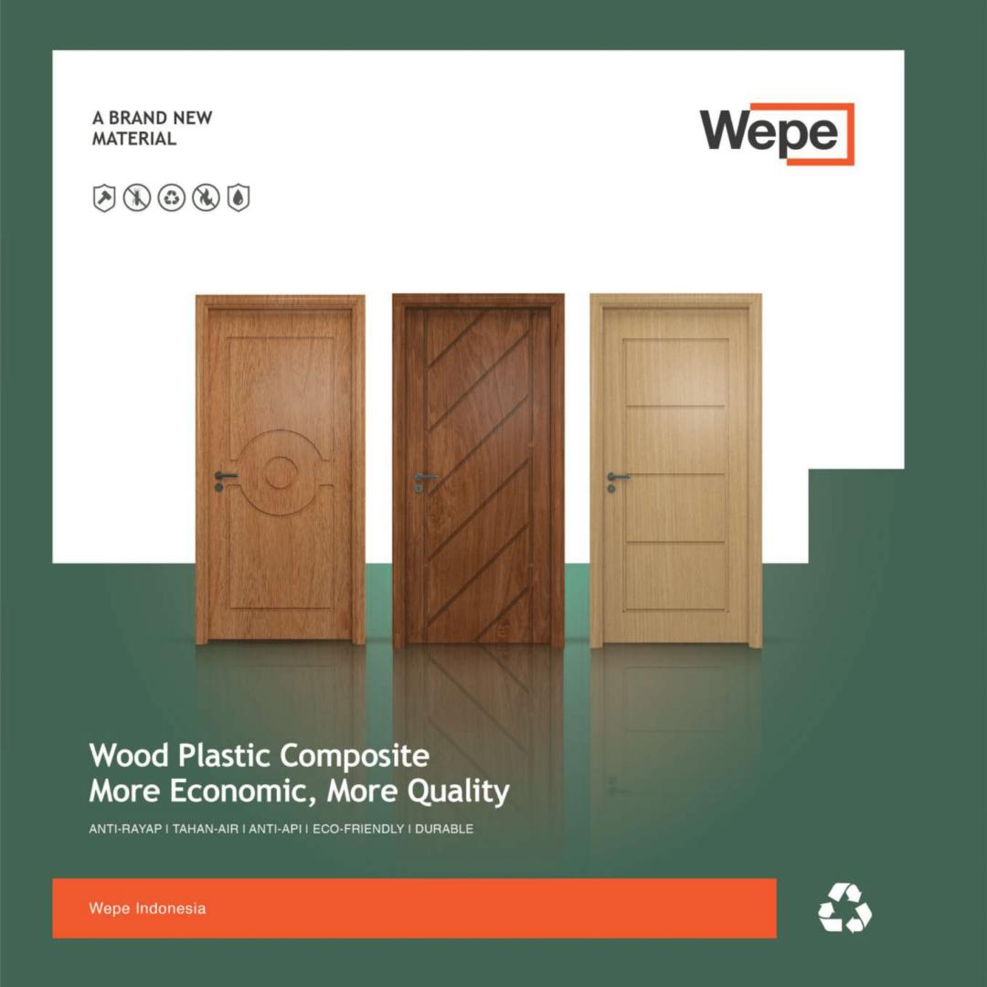 WEPE COMPROF-01-02, wepe, door, composite, plastic, pintu